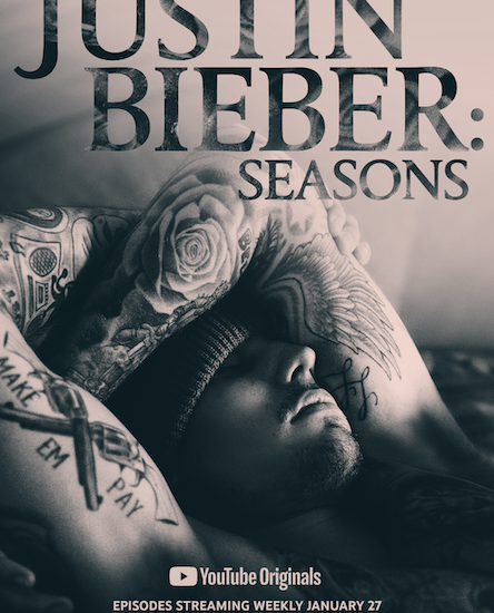 poster serie documental justin bieber